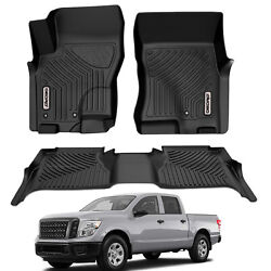OEDRO Floor Mats Liners TPE for 2005 2021 Nissan Frontier Crew Cab All Weather $105.99