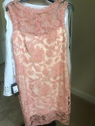 NEW Tadashi Shoji Women's Embroidered Lace Dress Auburn size 10