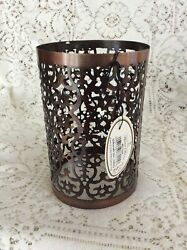 GIFTCRAFT PILLAR CANDLE JAR CANDLE DECORATIVE SLEEVE HOLDER 6quot; COPPER $6.99