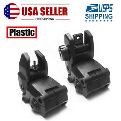 Premium Pair Flip-up Tactical Sight Plastic Folding Sights Front and Rear Set $10.98