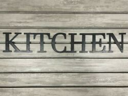 KITCHEN Metal Wall Art Word Quote Sign Decor Steel RUSTIC HOME farmhouse modern $24.95