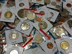 Liquidation SALE LOT of 11 Proof and Mint coins PLUS 50 year old 5 coin BONUS $32.99