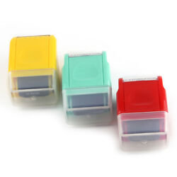 Office Supply Mini Guard Your ID Messy Code Security SelfInking Roller Stamp New $9.58
