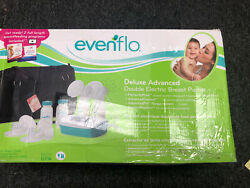 Evenflo Deluxe Advanced Double Electric Breast Pump w Travel Bag amp; Cooler 937509 $59.99