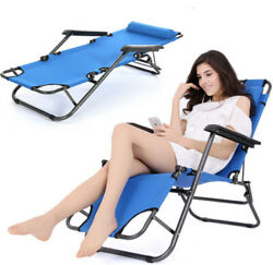Outdoor Folding Reclining Beach Sun Patio Chaise Lounge Chair Pool Lawn Lounger $49.99