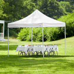10#x27; x 10#x27; White Square Straight Leg Steel Instant Outdoor Wedding Canopy Tent $123.60