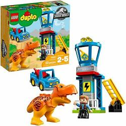 LEGO DUPLO Jurassic World T Rex Tower 22Pc Building Toy Control Tower Car Ladder $99.99