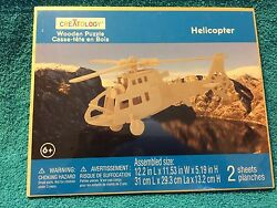 Creatology Wooden Puzzle Helicopter New $6.25