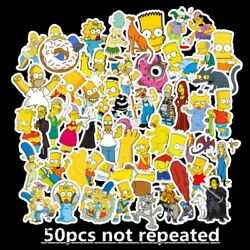 50pcs Simpsons Vinyl Stickers for Skateboard Luggage Laptop Decal ship free $5.99