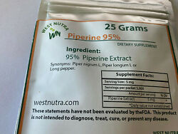 Piperine Black Pepper Extract Powder 95% Piperine 25 grams. $23.90