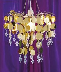 Beaded Chandelier Lamp Chic Cascading Metallic Sequined Hanging Sparkle Accent $39.99