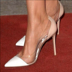 Chic Womens Clear Pointed Toe High Heel Stiletto Sexy Party Shoes Slip on Pumps $45.49