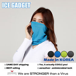 Ice Gadget Cooling Neck Gaiter Mask Tube Scarf-Cycling Fishing Running Hunting $12.00