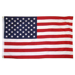USA AMERICAN FLAG 3' x 5' FT BRASS GROMMETS FREE SHIPPING FROM U.S. $5.00