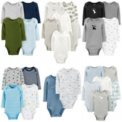 Carters Bodysuits Baby Boys Long Sleeve Unisex Sets New $15.00