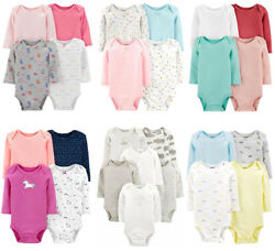 Carters Bodysuits Baby Girls Long Sleeve Unisex Sets New $28.00