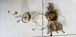 Sessions Brass Electric Clock 11.5quot;H Antique Parts or Repairs $29.99
