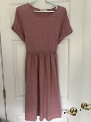 Neeses Dresses Pink HEATHER Summer Dress Size L $12.50