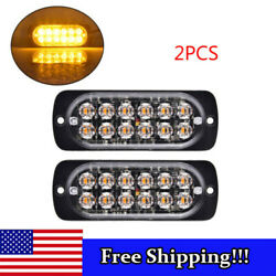 2PCS Red 10 LED 6