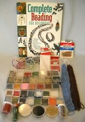 Lot Glass Seed Beads Hanks Beginner Booklet Great Variety for Jewelry Making $25.00