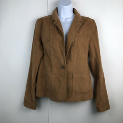 NWT Nordstrom Amber Sun Size Medium Corduroy Blazer Camel Brown Career $69 $24.99