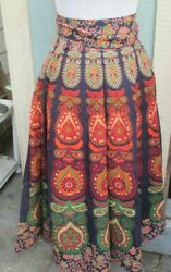 Hippie Gypsy Dress Wrapron Cotton Indian Women Ethnic Long Wrap Around Skirt $23.66
