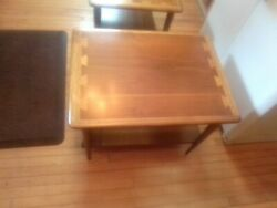 Vintage Mid Century Modern Lane Acclaim Walnut Dovetail end Table 0900-05 $125.00