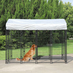 Large Outdoor Dog Kennel Cat Pet Shelter Cover Shade Enclosure House Cage $255.99