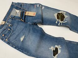 Levi#x27;s Levis 502 Regular Taper Military Army Camo Distressed Ripped Shred Jeans $39.99