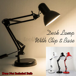 Black Metal Folding Desk Lamps Table Light With Clip Base for Studying Reading $24.59