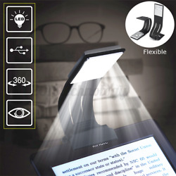 USB Rechargeable Clip On Book Light LED Flexible Reading Lamp For Kindle Reader $9.99