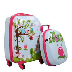 Kids Luggage- 2PCS- Children Carry On Suitcase Rolling Backpack Travel Set $39.99