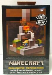 Mojang Mattel Minecraft Cave Biome Collection #1 Mining Mountain amp; Steve Pickaxe $37.99
