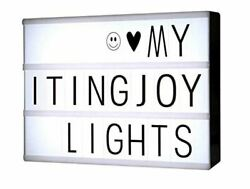 Free Combination Cinematic Light Box W Letters & LED Light A4 Size 90 Letters $16.50