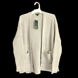 Womens Wild Fable Long Sleeve Open Oversized Cardigan Light Gray XS Extra Small $14.99