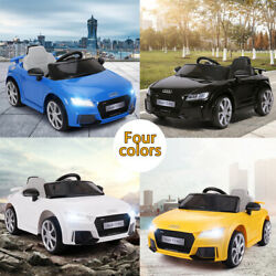 Kids Ride On Cars Audi TT RS Licensed 12V Electric Rechargeable Racing Toys $152.99