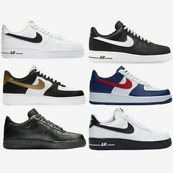 Nike Air Force 1 Low New Mens Shoes Sneakers White Black Gold Blue Red Size 8-13 $106.95