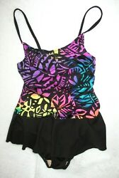 Girls One Piece Skirted Bathing Suit Swimsuit by Pacific Connections Size 10 USA $8.00