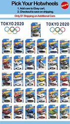 Summer 2020 Hot Wheels Tokyo Olympics You Pick L K Case Save on Ship Part #2 $3.99