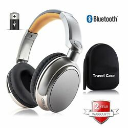 Wireless Bluetooth Headphones Stereo Super Bass Headset Over the Ear with case $34.99