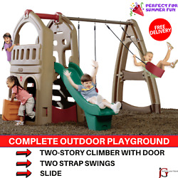 Complete Outdoor Playground With Climber Swing Set Slide For Play Kids In Summer $1,299.99