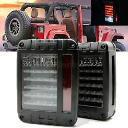 Pair LED Reverse Rear Brake Tail Lights Lamp fit Jeep Wrangler JK 07-17 Black $48.95