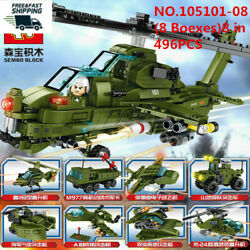 ENLIGHTEN Helicopter Kids Building Toys Boy Blocks 8in1 Puzzle 8 Boxes 496pcs $17.57