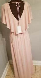 MANGO MNG Maxi Summer Dress US Size 4 S Peach Color New With Tag Original $99  $49.99