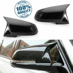 Pair Carbon Fiber Side Mirror Cover Cap For BMW F30 F31 F34 2012-2018 $44.50