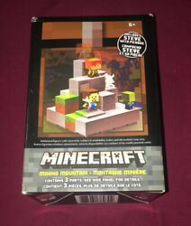 Mojang Minecraft Cave Biome Collection #1 Mining Mountain amp; Steve Pickaxe New $30.88