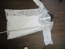 ladies girls summer white lace dress skull butterflies etc size 8  10 $6.22
