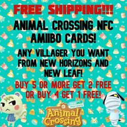 Animal Crossing Amiibo Cards NFC - POPULAR & ANY VILLAGER TO CHOOSE! $2.99