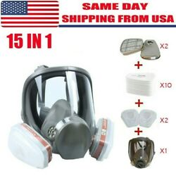 US Full Face Gas Mask Painting Spraying Respirator w Filters for 6800 Facepiece $59.99