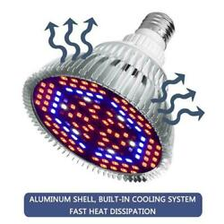 LED Grow Light Bulbs Plants Grow Lamp E27 Full Spectrum 30-80w Fruit Veg N3S9 $9.62